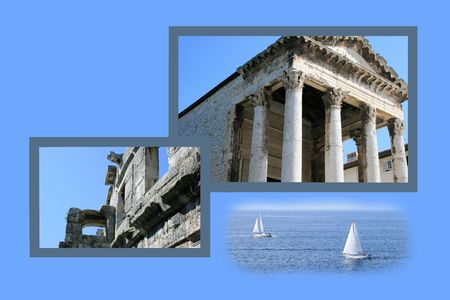 Design for postcard, Pula, Croatia
