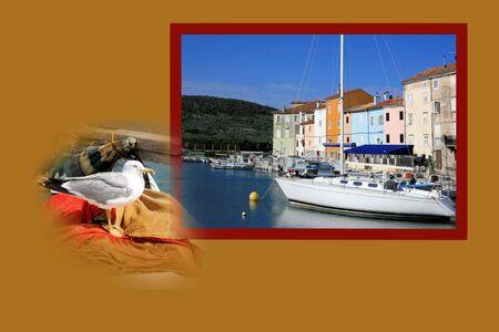 croatia: Design for postcard, Cres, Croatia