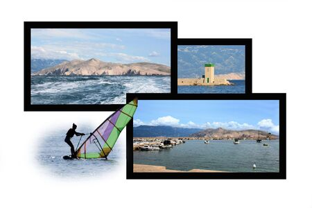 Design for postcard, Baska, Croatia Reklamní fotografie