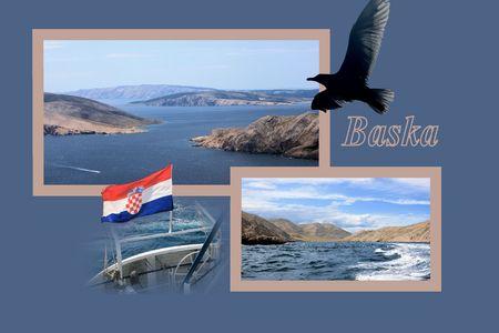 Design for postcard, to Vela Luka, Baska, Croatia, with text Reklamní fotografie
