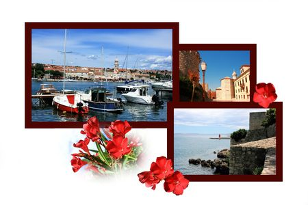 Ontwerp voor briefkaart, Krk, Kroatië