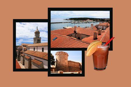 Design for postcard, Krk, Croatia