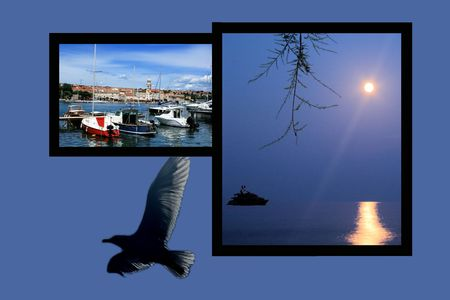 krk: Design for postcard, Krk, Croatia