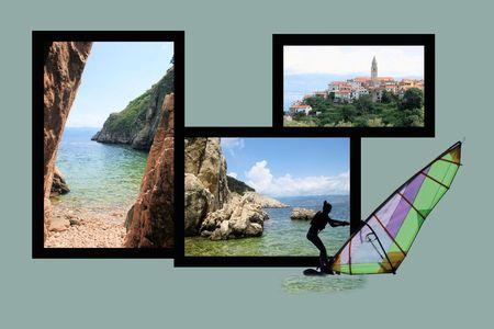 Design for postcard, Vrbnik, island Krk, Croatia Reklamní fotografie