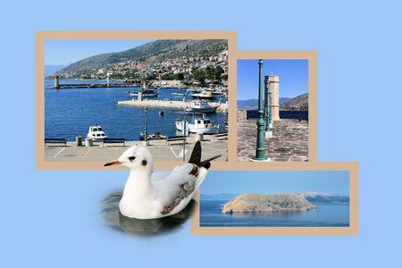 postcard design: Design for postcard, Senj, Croatia