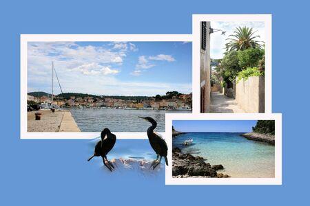combi: Design for postcard, Mali Losinj, Croatia