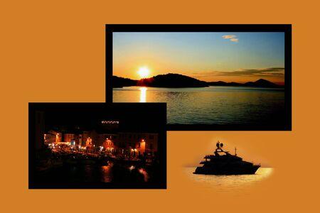 Design for postcard, Veli Losinj, Croatia Stock Photo