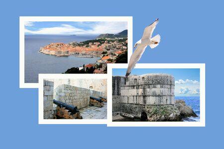 croatia: Design for postcard, Dubrovnik, Croatia