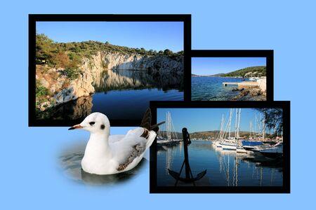croatia: Design for postcard, Rogoznica, Croatia Stock Photo