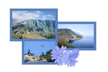 combi: Design for postcard, Makarska, Croatia