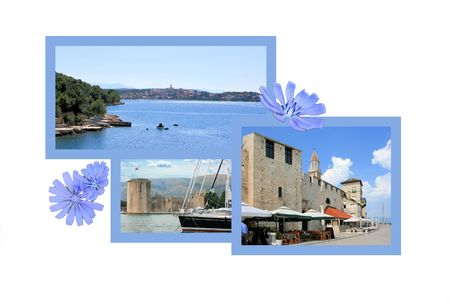 Design for postcard, Trogir, Croatia photo