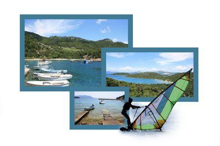 Design for postcard, Trstenik, Croatia Stock fotó