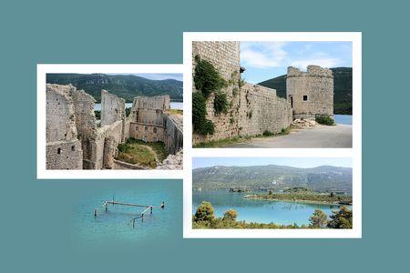 combi: Design for postcard, Ston, Croatia Stock Photo