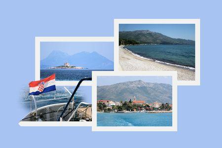 croatia: Design for postcard, Orebic, Croatia