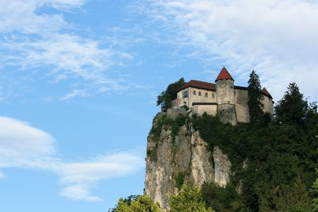 view on castle, lake Bled, Slovenia