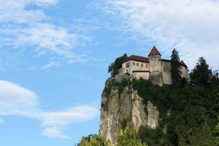 karawanks: view on castle, lake Bled, Slovenia