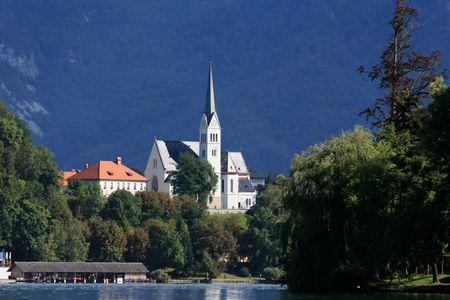 karawanks: lake Bled, Slovenia