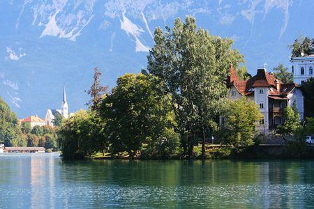 karawanks: view on lake Bled, Slovenia