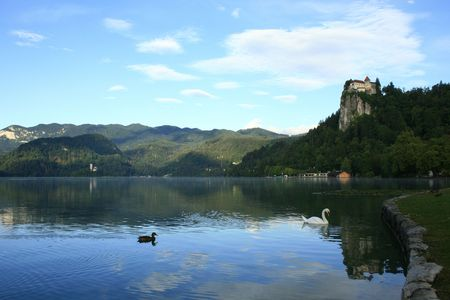 nice view over lake Bled, Slovenia