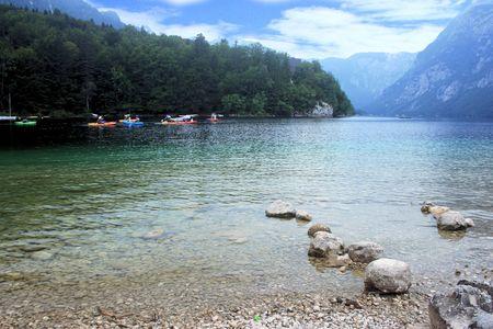 karawanks: view on lake Bohinj, Slovenia