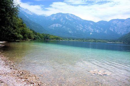 karawanks: blue lake Bohinj, Slovenia