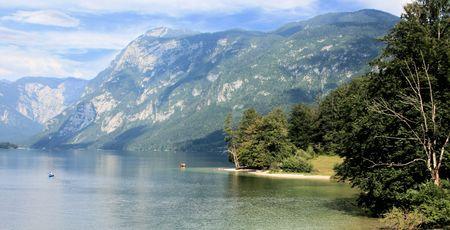 view on lake Bohinj, Slovenia