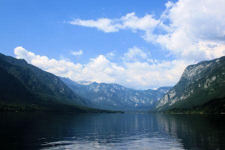 lovely view on lake Bohinj Stock Photo