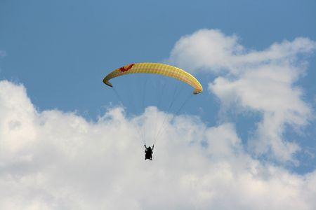 karawanks: yellow paraglider