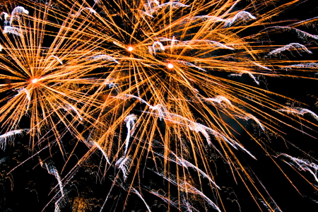 polychrome: firework in the night Stock Photo