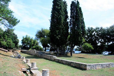 roman empire: remainigs or roman empire in national park Brioni, Croatia Stock Photo