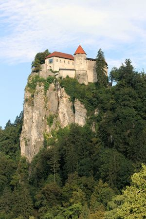 view on castle or lake Bled, Slovenia