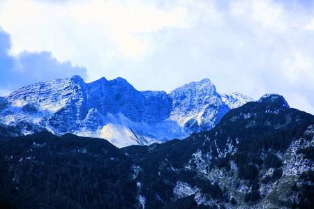 mountains next to Lake Bohinj