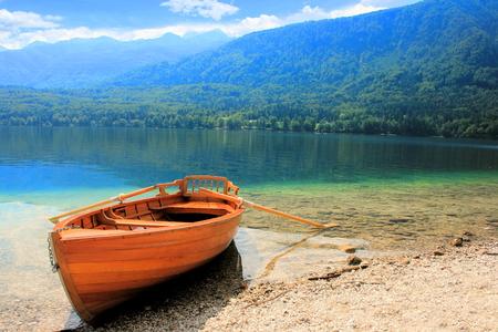 karawanks: rowboat on Lake Bohinj