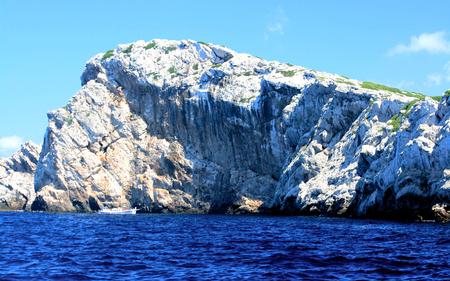kornati national park: rough rocks in NP Kornati, Croatia