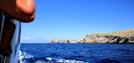kornati national park: with the boat in NP Kornati, Croatia Stock Photo