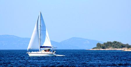 kornati national park: sailing in NP Kornati, Croatia