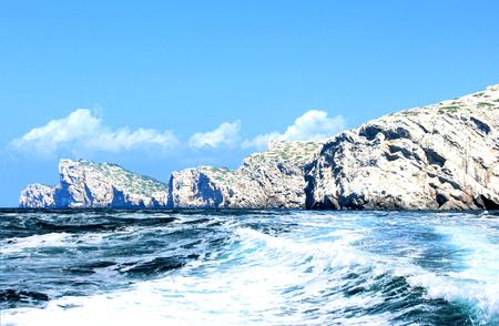 kornati national park: boating in NP Kornati, Croatia