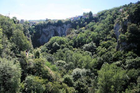 mediterranean forest: view in Pazin, Istria, Croatia Stock Photo