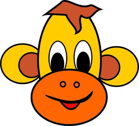 primate: monkey head