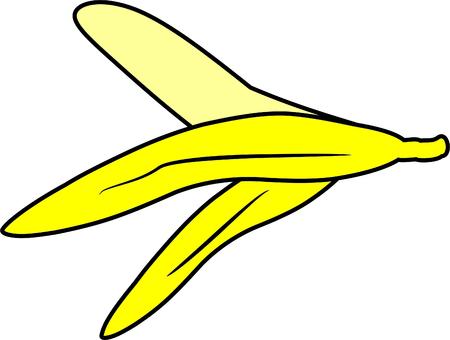 peeled: peeled banana Illustration