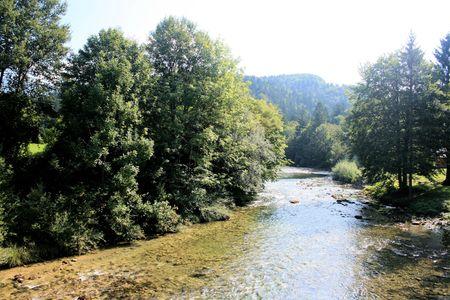 karawanks: Sava river near lake Bohinj, Slovenia