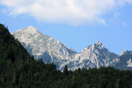 karawanks: mountains near lake Bohinj, Slovenia