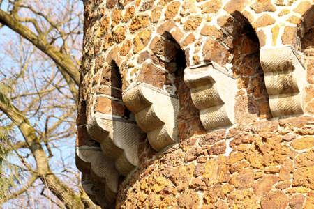 streamlet: tower or enterance gate in mikhof park, Brasschaat, Belgium