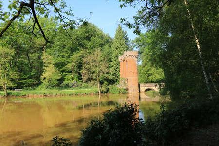 streamlet: enterance gate in mikhof park, Brasschaat, Belgium