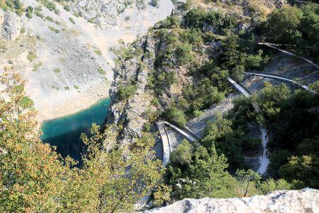 View in Imotski, blue lake, Croatia