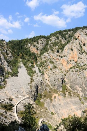 view near the blue lake in Imotski, Croatia Stock Photo