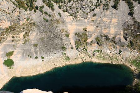 the blue lake in Imotski, Croatia Stock Photo
