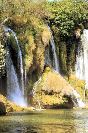 res: waterfall in nature park Kravica falls, Bosnia and Herzegovina