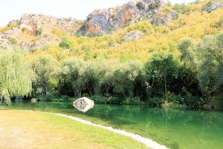 res: lovely spot near the Cetina river, Croatia Stock Photo