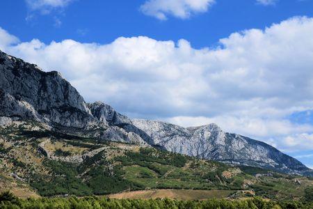 Biokovo mountains near Baska Voda, Croatia